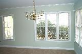 AFTER: Dining room & windows from French doors to kitchen